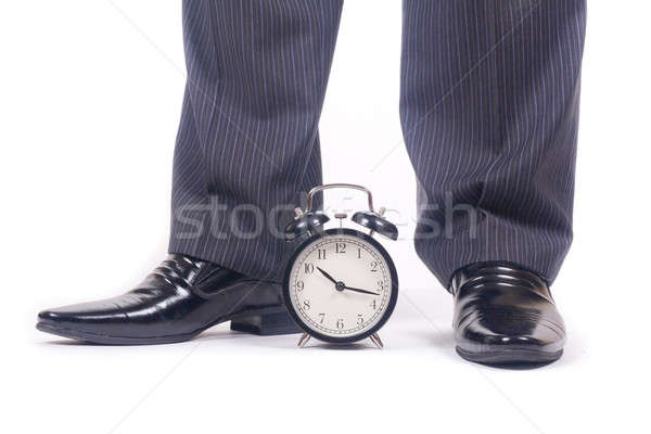 Alarm clock and legs Stock photo © a2bb5s