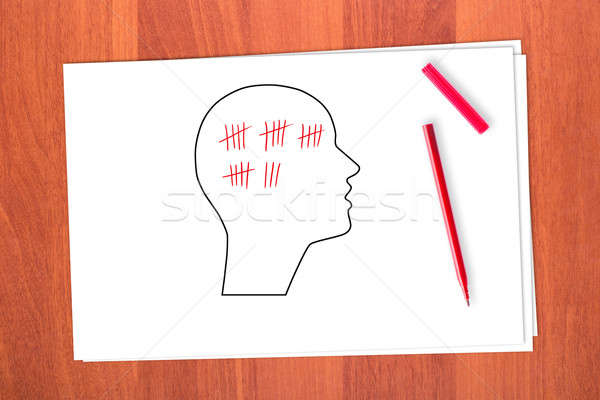 Drawing head and stroke Stock photo © a2bb5s