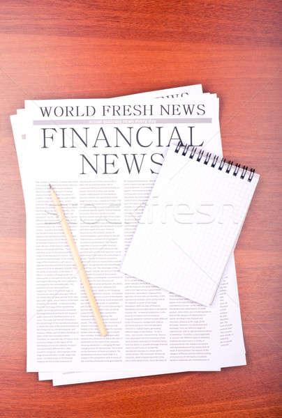 újság istálló növekedés notebook felső kilátás Stock fotó © a2bb5s