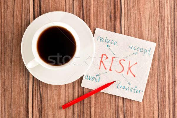 Risk on a napkin Stock photo © a2bb5s