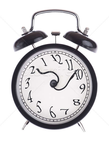 Alarm clock with twisted arrows Stock photo © a2bb5s
