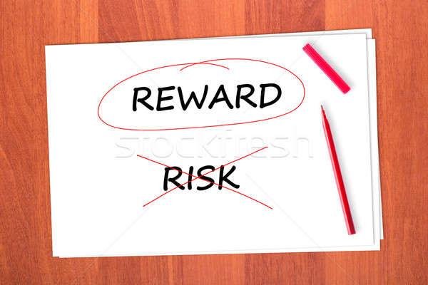 報いる 言葉 外に リスク 紙 デザイン ストックフォト © a2bb5s