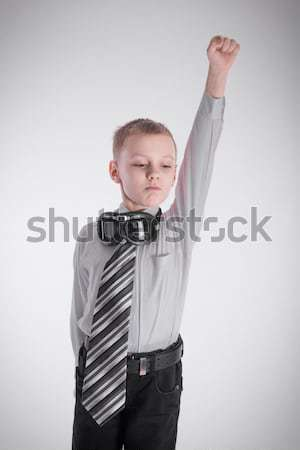 The boy shows a superhero Stock photo © a2bb5s