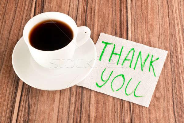 Inscription Thank you on a napkin Stock photo © a2bb5s