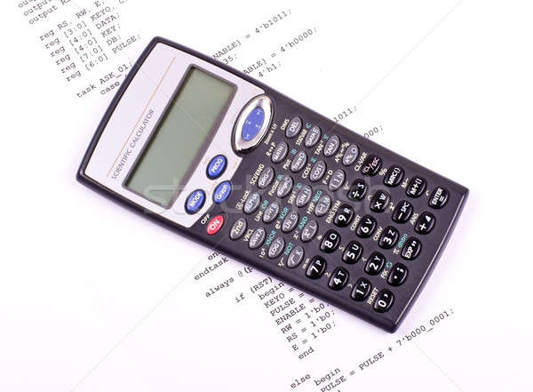Part of the computer program and calculator Stock photo © a2bb5s
