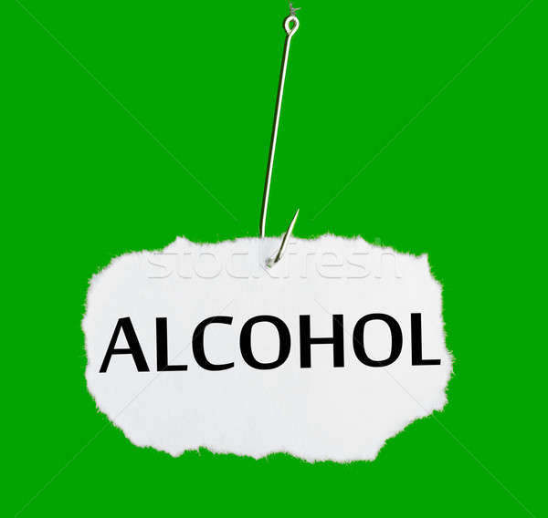 Word ALCOHOL on a fishing hook Stock photo © a2bb5s