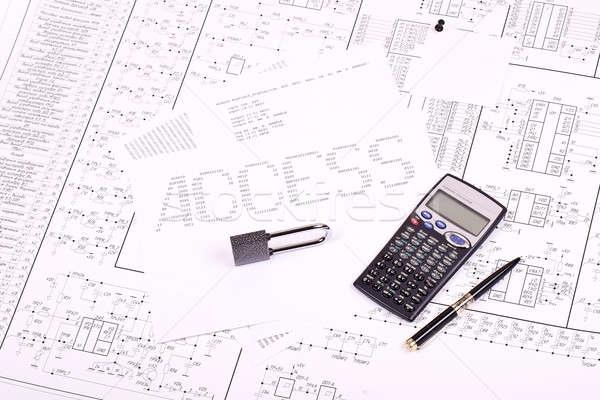 Padlock, pen, calculator and inscription ACCESS Stock photo © a2bb5s