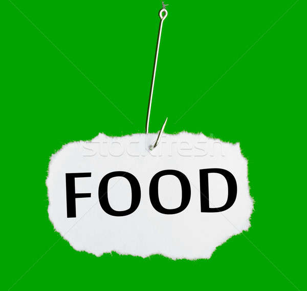 Word FOOD on a fishing hook Stock photo © a2bb5s