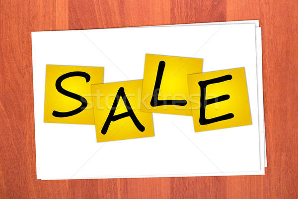 Word SALE  on stickers Stock photo © a2bb5s