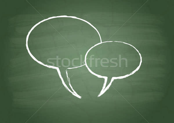 Two talk sign Stock photo © a2bb5s