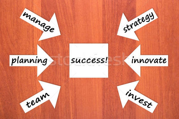 Six components of success Stock photo © a2bb5s