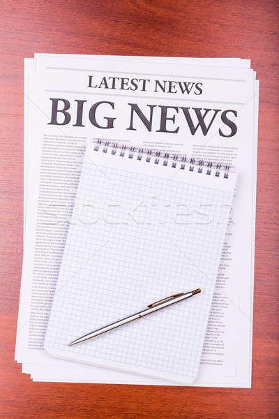 The newspaper BIG NEWS Stock photo © a2bb5s