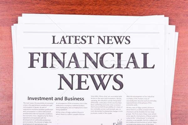 Stock photo: The newspaper LATEST NEWS