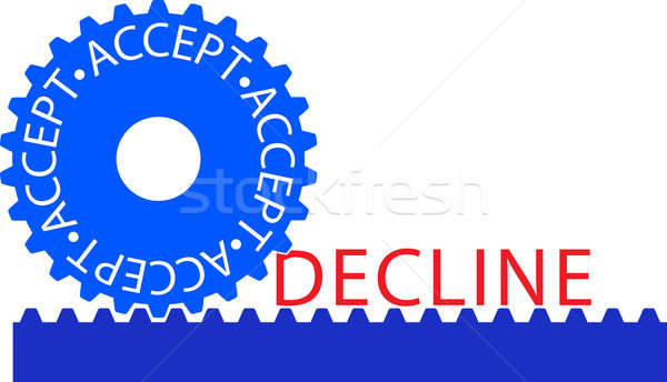 Accept-Decline Stock photo © a2bb5s