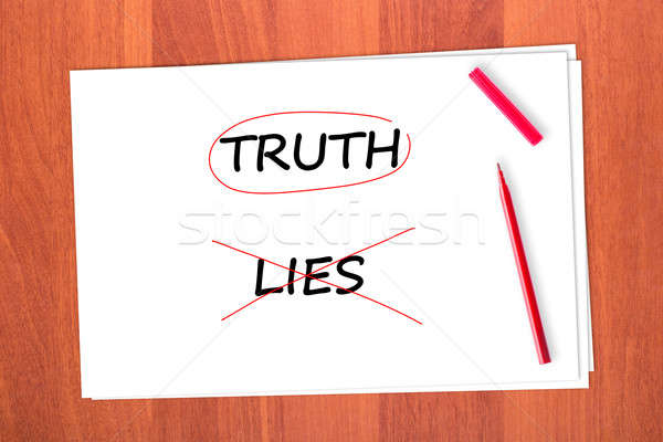 TRUTH Stock photo © a2bb5s