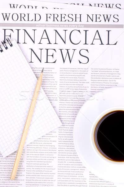 Newspaper FINANCIAL NEWS Stock photo © a2bb5s