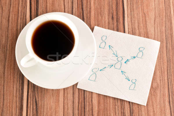 Relations between people on a napkin Stock photo © a2bb5s
