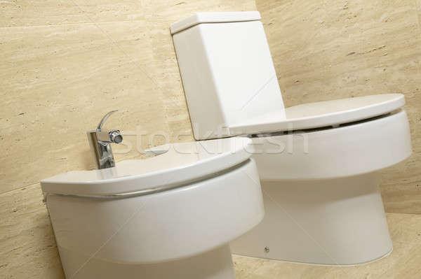 Toilet and bidet Stock photo © ABBPhoto