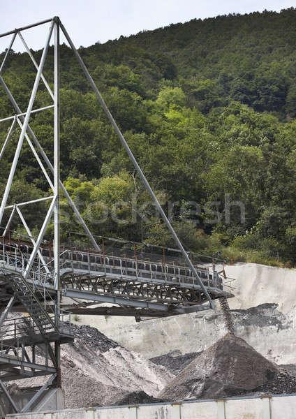 Cement mixer machine Stock photo © ABBPhoto