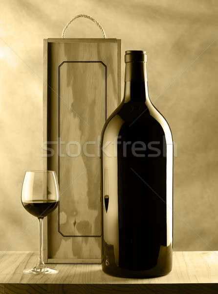 Wine bottle and glass still life Stock photo © ABBPhoto