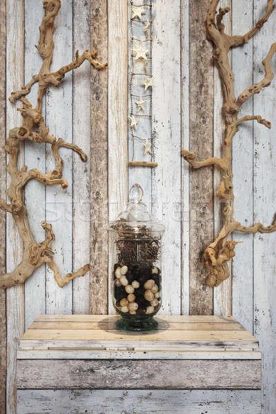 домашнее хозяйство украшение Элементы дерево древесины Сток-фото © ABBPhoto