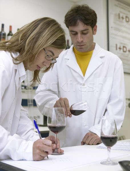 вино профессиональных рабочих погреб лаборатория Испания Сток-фото © ABBPhoto