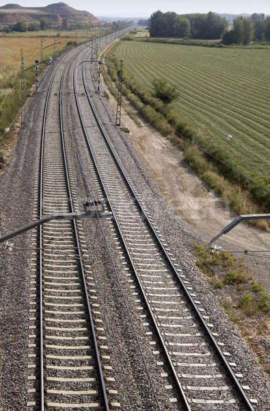 Vasútvonal vidék oldal sín út spanyol Stock fotó © ABBPhoto