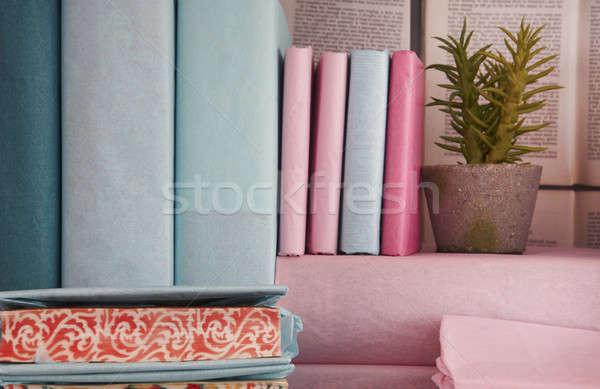 Coperto irregolare libri decorazione soft colore Foto d'archivio © ABBPhoto
