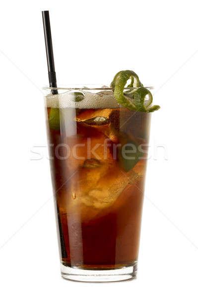Groot Cuba rum cocktail kalk geïsoleerd Stockfoto © ABBPhoto