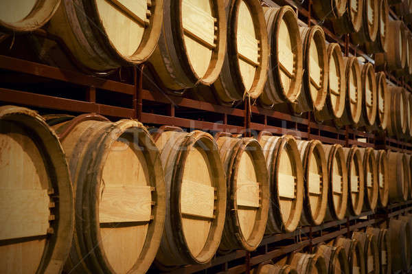 Wine barrels in an aging process Stock photo © ABBPhoto