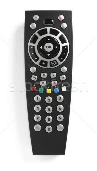 Control negro aislado blanco televisión Foto stock © ABBPhoto