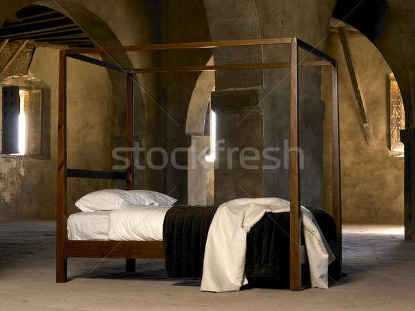 четыре плакат кровать внутри старые исторический Сток-фото © ABBPhoto