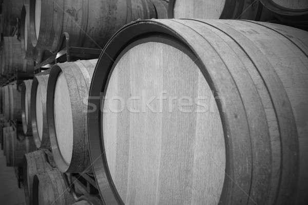Vin imbatranire proces spaniol negru alb Imagine de stoc © ABBPhoto