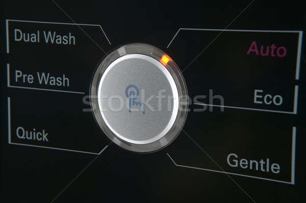 стиральная машина контроль современных кнопки таймер Сток-фото © ABBPhoto