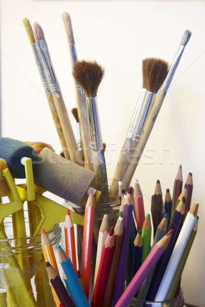 Art craft tools Stock photo © ABBPhoto
