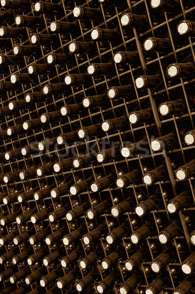 вино бутылок перспективы испанский погреб Сток-фото © ABBPhoto