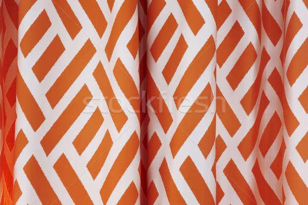 занавес оранжевый белый линия свет шаблон Сток-фото © ABBPhoto