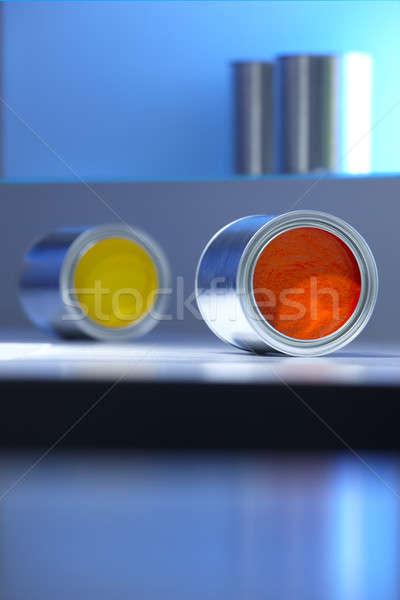 краской желтый оранжевый цветами свет Focus Сток-фото © ABBPhoto