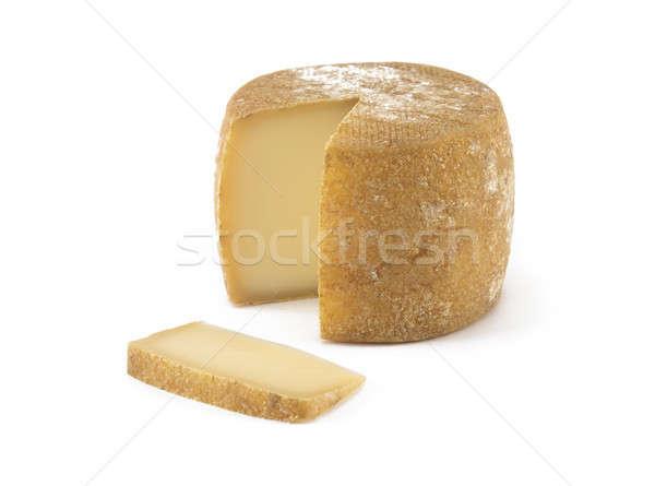 испанский сыра изолированный белый обеда Сток-фото © ABBPhoto