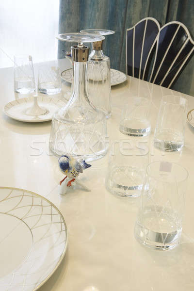 Glass and ceramic Dishware Stock photo © ABBPhoto