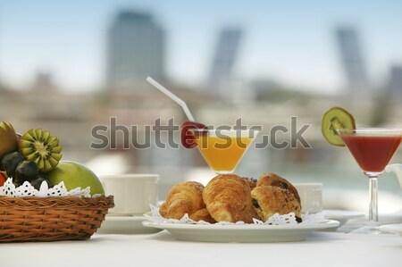 завтрак один терраса Мадрид отель Сток-фото © ABBPhoto