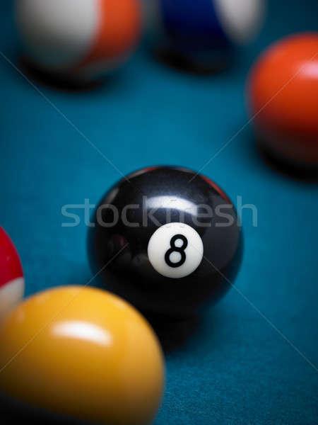 бассейна Focus черный числа Сток-фото © ABBPhoto
