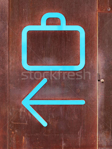 Baggage claim and arrow signs Stock photo © ABBPhoto