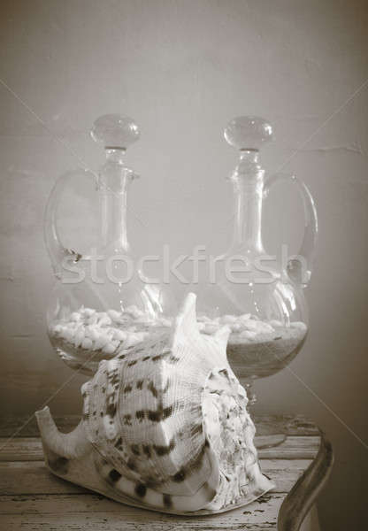 оболочки стекла украшение Элементы белый вертикальный Сток-фото © ABBPhoto