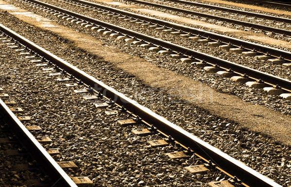 Piedras brillante sol acero transporte Foto stock © ABBPhoto