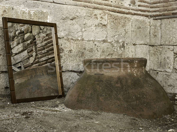 Mirror in rural outdoors Stock photo © ABBPhoto