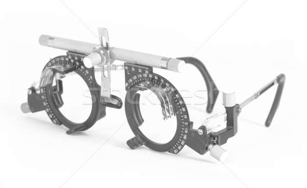 Optometrist test sight and glasses Stock photo © ABBPhoto
