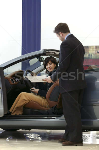 Woman buying car. Stock photo © ABBPhoto