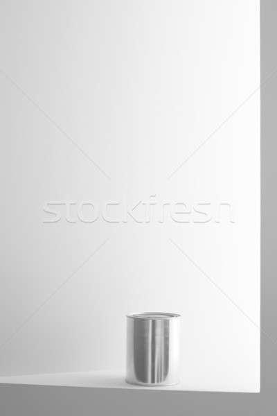 Festékes flakon fehér fal copy space függőleges festék Stock fotó © ABBPhoto