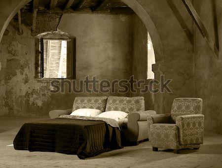 Casa elementos muebles sofá cama sillón Foto stock © ABBPhoto